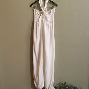 Mara Hoffman 100% Silk Cream Jumpsuit